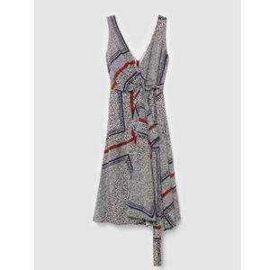 NWT Derek Lam 10 Crosby Silk Midi Wrap Dress 6